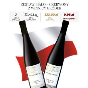 Zestaw Biało-Czerwony z Winnicy Gródek