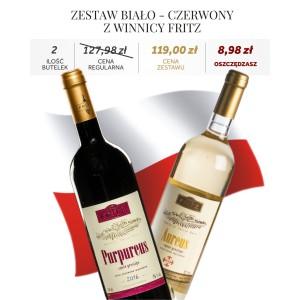 Zestaw Biało-Czerwony z Winnicy Fritz