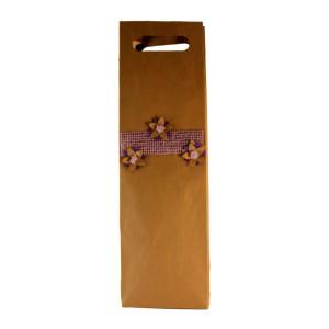 Torebka papierowa na wino ze wzorem - eko