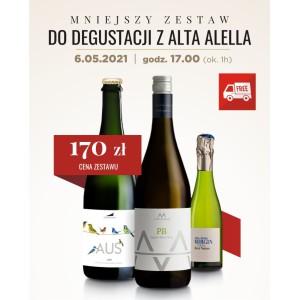 Mniejszy zestaw do degustacji z Alta Alella! 6.05.2021 o godz. 17.00