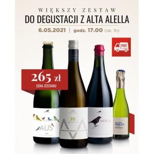 Większy zestaw do degustacji z Alta Alella! 6.05.2021 o godz. 17.00