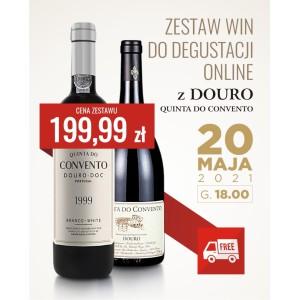 Zestaw dwóch win do degustacji online z Douro - Quinta do Convento!